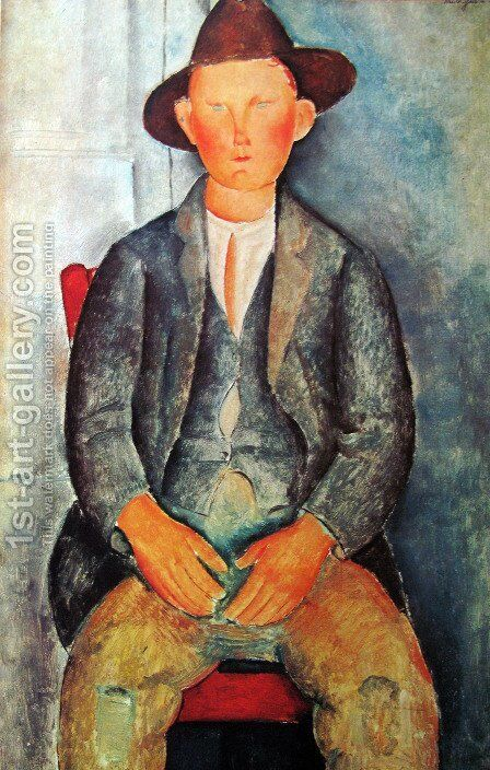 Young Farmer by Amedeo Modigliani - Reproduction Oil Painting