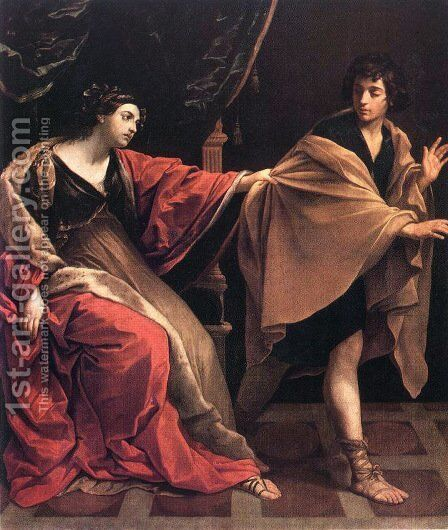 Joseph and Potiphars' Wife by Guido Reni - Reproduction Oil Painting