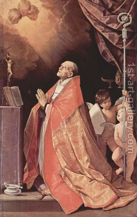 St. Andrew Corsini in prayer by Guido Reni - Reproduction Oil Painting