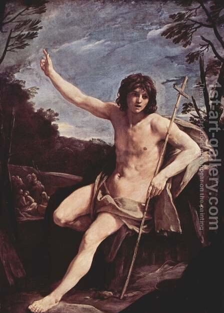 St. John the Baptist in the desert by Guido Reni - Reproduction Oil Painting