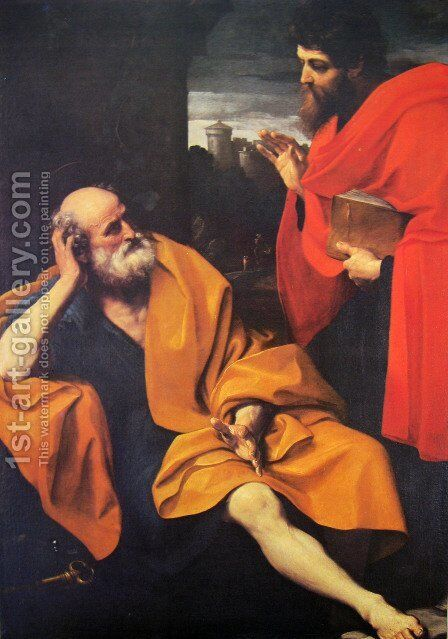 St. Peter and St. Paul by Guido Reni - Reproduction Oil Painting