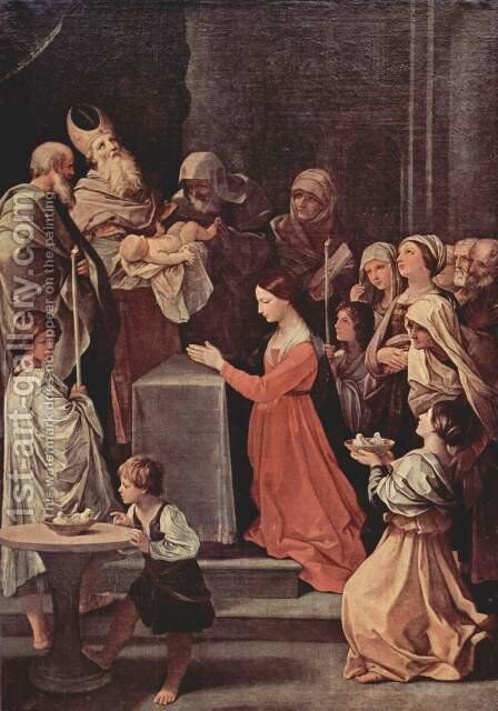 The purification of the Virgin by Guido Reni - Reproduction Oil Painting