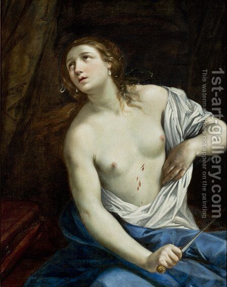 The Suicide of Lucretia by Guido Reni - Reproduction Oil Painting
