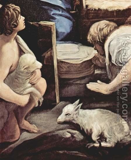 Adoration of the Shepherds, detail 3 by Guido Reni - Reproduction Oil Painting