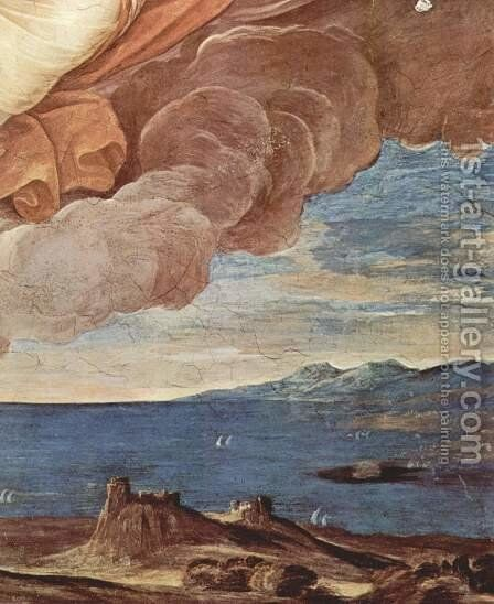 Aurora (Apollo follows the voraneilenden Aurora in his car), Detail 1 by Guido Reni - Reproduction Oil Painting