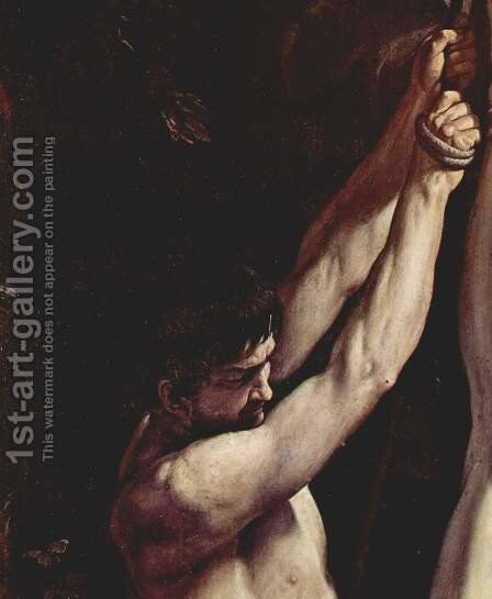 Crucifixion of St. Peter, Detail by Guido Reni - Reproduction Oil Painting