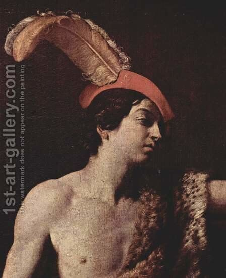 David with the head of Goliath, Detail by Guido Reni - Reproduction Oil Painting