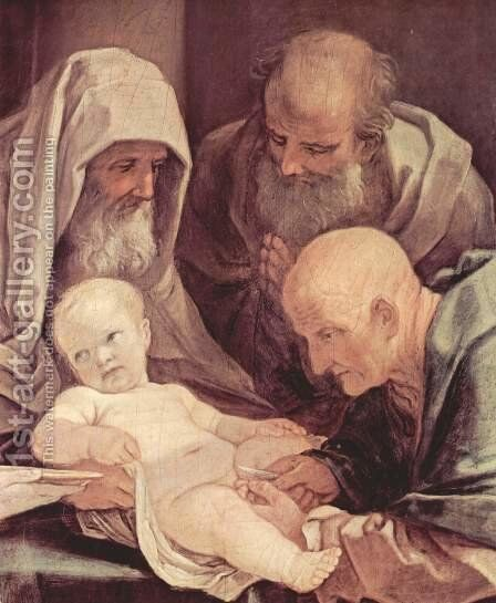 The circumcision of the Child Jesus, Detail 2 by Guido Reni - Reproduction Oil Painting