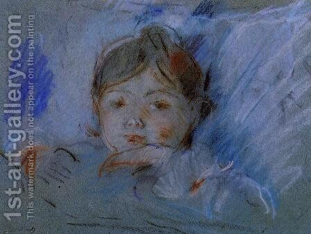 Child in Bed 2 by Berthe Morisot - Reproduction Oil Painting