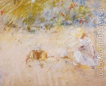 Child Playing in the Garden 2 by Berthe Morisot - Reproduction Oil Painting