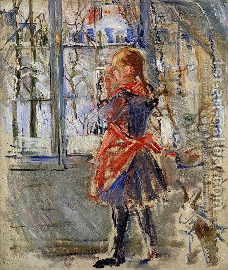 Child with a Red Apron 2 by Berthe Morisot - Reproduction Oil Painting