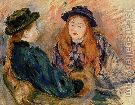 Conversation 2 by Berthe Morisot - Reproduction Oil Painting