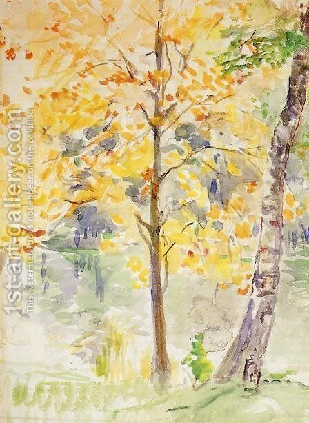 Fall Colors in the Bois de Boulogne by Berthe Morisot - Reproduction Oil Painting