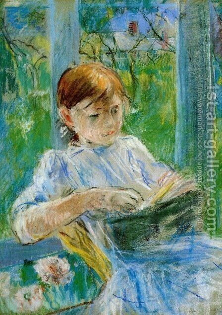 Portrait of the Artist's Daughter, Julie Manet by Berthe Morisot - Reproduction Oil Painting