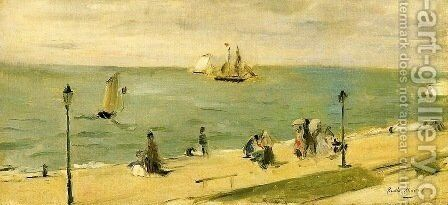 The Beach at Petit-Dalles by Berthe Morisot - Reproduction Oil Painting