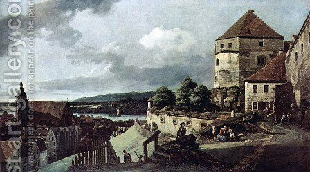 View from Pirna, Pirna, from the sun-stone fortress view by Bernardo Bellotto (Canaletto) - Reproduction Oil Painting