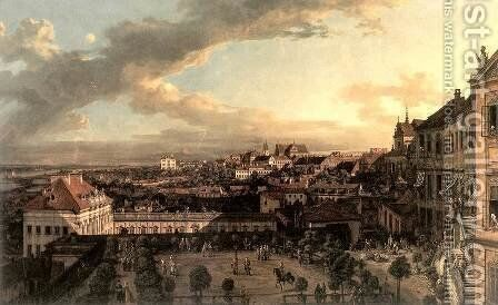 View of Warsaw from the Royal Palace by Bernardo Bellotto (Canaletto) - Reproduction Oil Painting