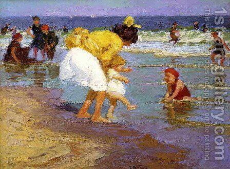 At the Seashore 3 by Edward Henry Potthast - Reproduction Oil Painting