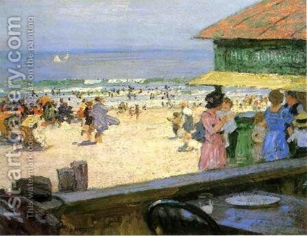 Beach Scene 5 by Edward Henry Potthast - Reproduction Oil Painting