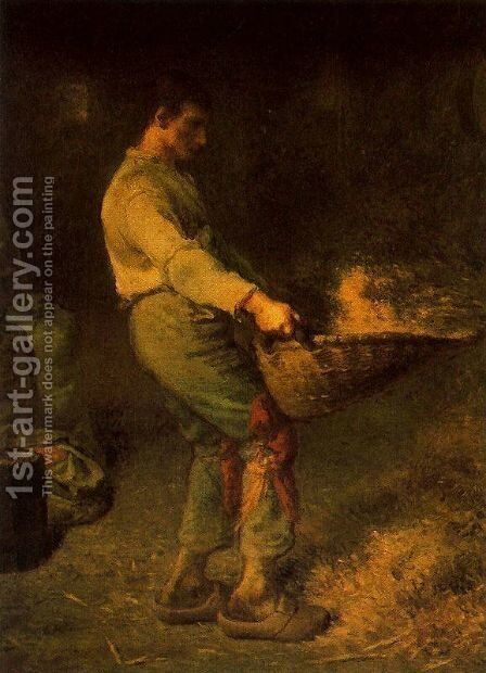 El aventador by Jean-Francois Millet - Reproduction Oil Painting