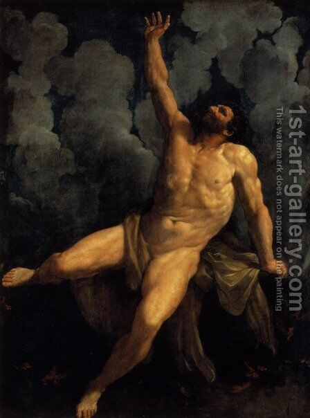 Hercules on the Pyre by Guido Reni - Reproduction Oil Painting
