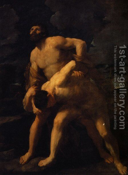 Hercules Wrestling with Achelous by Guido Reni - Reproduction Oil Painting
