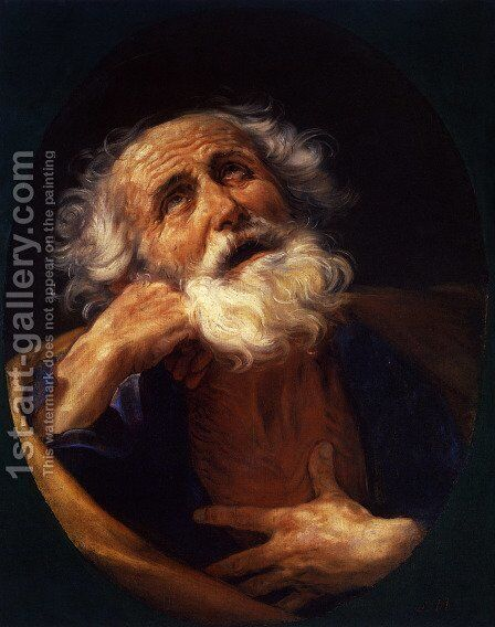 St Peter by Guido Reni - Reproduction Oil Painting