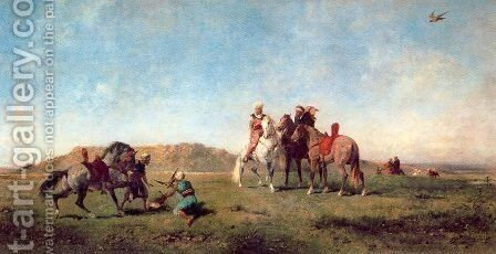 Hawking in Algeria by Eugene Fromentin - Reproduction Oil Painting