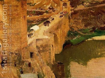 Alcántara bridge (Toledo) by Joaquin Sorolla y Bastida - Reproduction Oil Painting