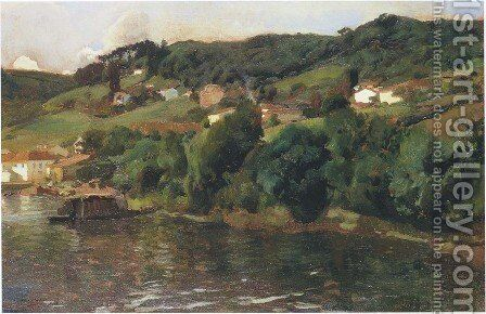 Asturian landscape by Joaquin Sorolla y Bastida - Reproduction Oil Painting
