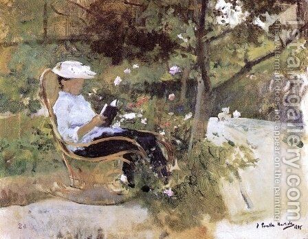 At the garden by Joaquin Sorolla y Bastida - Reproduction Oil Painting