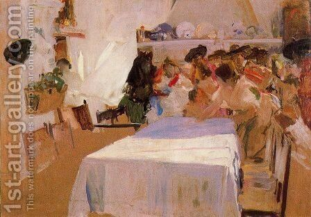 Baptism by Joaquin Sorolla y Bastida - Reproduction Oil Painting