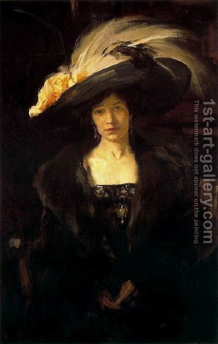 Clotilde with hat by Joaquin Sorolla y Bastida - Reproduction Oil Painting