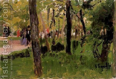 El Retiro, Madrid by Joaquin Sorolla y Bastida - Reproduction Oil Painting