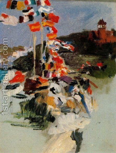 Equestrian Competition in Ondarreta by Joaquin Sorolla y Bastida - Reproduction Oil Painting