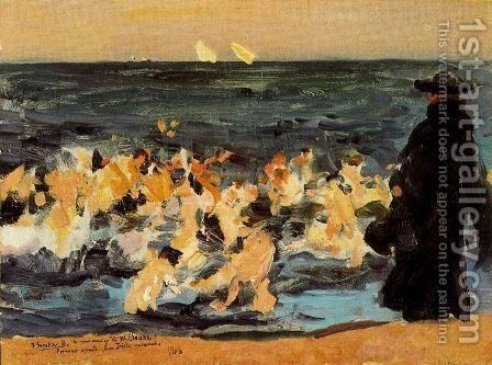 First sketch for 'Sad legacy' by Joaquin Sorolla y Bastida - Reproduction Oil Painting