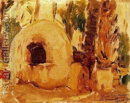 Furnace of Elche palm by Joaquin Sorolla y Bastida - Reproduction Oil Painting