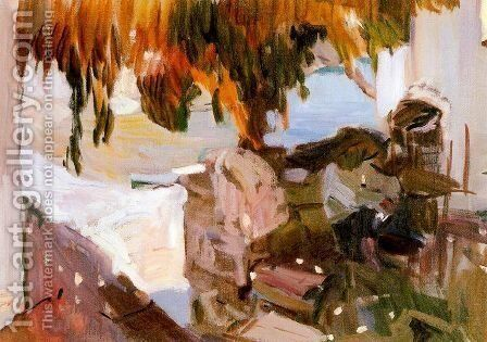Ibiza house (1919) by Joaquin Sorolla y Bastida - Reproduction Oil Painting
