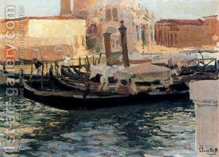 La Salute, Venecia by Joaquin Sorolla y Bastida - Reproduction Oil Painting