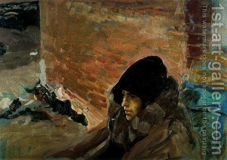 Mary Sick by Joaquin Sorolla y Bastida - Reproduction Oil Painting