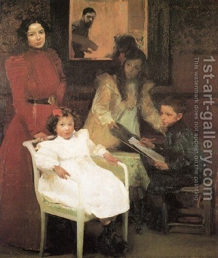 My family by Joaquin Sorolla y Bastida - Reproduction Oil Painting