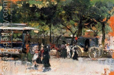 Near Paris by Joaquin Sorolla y Bastida - Reproduction Oil Painting