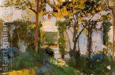 Old garden of the Alcazar in Seville by Joaquin Sorolla y Bastida - Reproduction Oil Painting