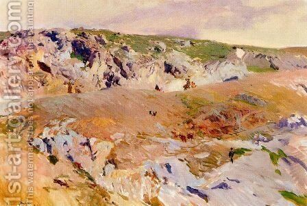 Paths of Alijales, Toledo by Joaquin Sorolla y Bastida - Reproduction Oil Painting