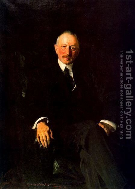 Portrait of Jaeques Seligmann by Joaquin Sorolla y Bastida - Reproduction Oil Painting