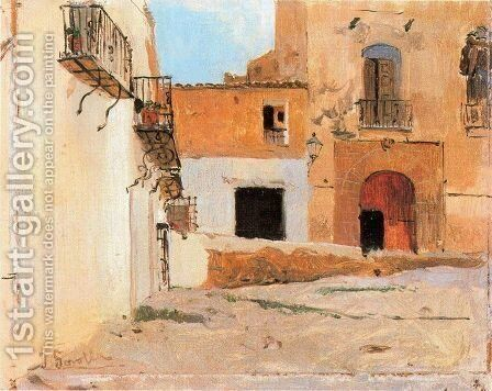 Square of Valencia by Joaquin Sorolla y Bastida - Reproduction Oil Painting