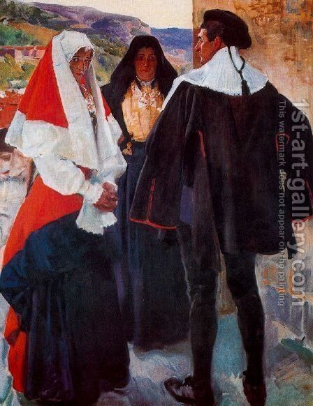 Types of the Roncal by Joaquin Sorolla y Bastida - Reproduction Oil Painting