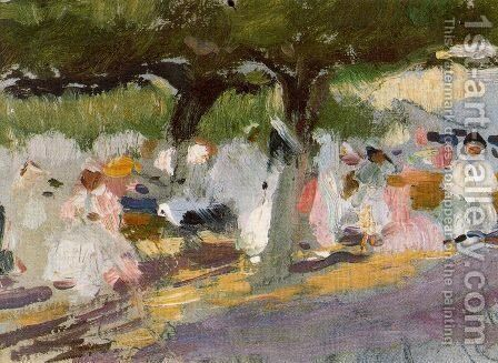 Under the tamarinds (San Sebastian) by Joaquin Sorolla y Bastida - Reproduction Oil Painting