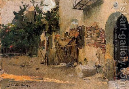 Valencian Alquería by Joaquin Sorolla y Bastida - Reproduction Oil Painting