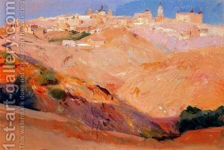 View of Toledo by Joaquin Sorolla y Bastida - Reproduction Oil Painting